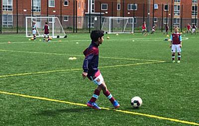 Nishanth (Nish) Doppalapud attends West Ham United Academy in London, England