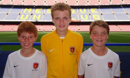 Hoover Soccer Club represented at FC Barcelona in Spain.